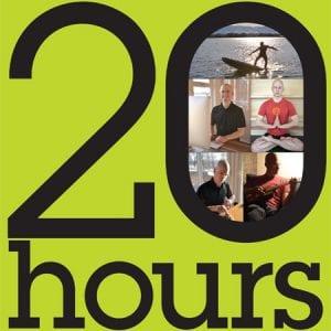 O próprio autor testou o conceito das 20 horas!