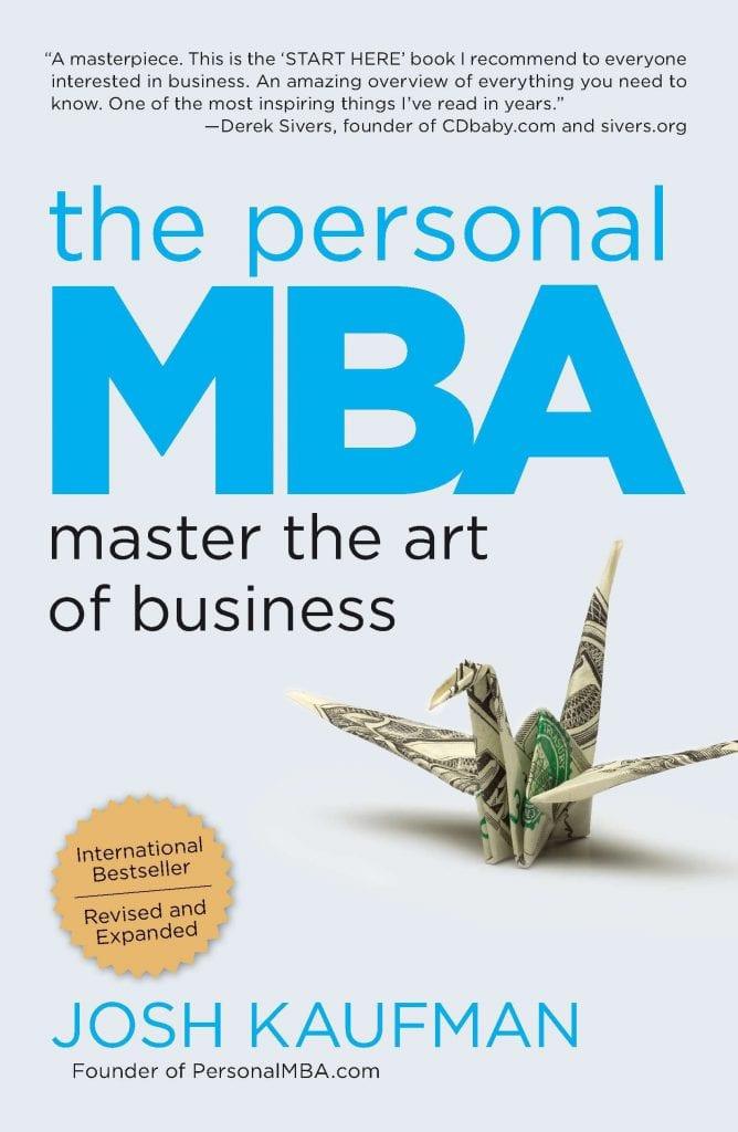 """Capa do livro """"Manual do CEO"""" em inglês """"Personal MBA"""", de Josh Kaufman"""