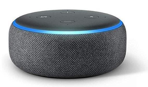 Modelo Echo Dot da Alexa, assistente da Amazon