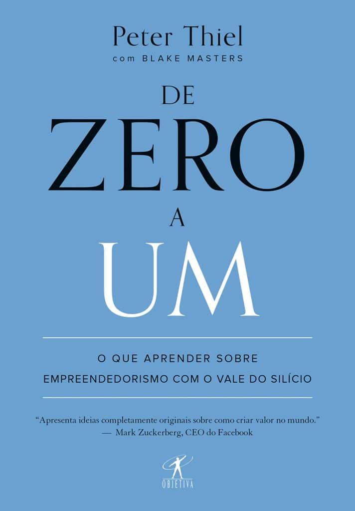 Capa do livro De Zero a Um, de Peter Thiel