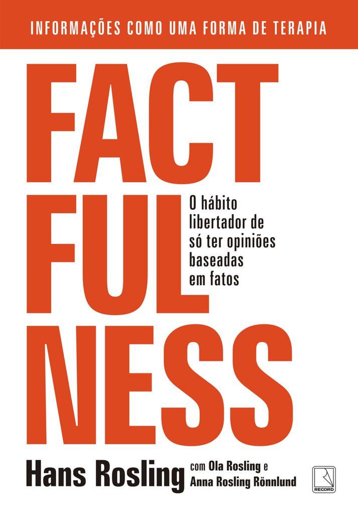Capa do livro Factfulness, de Hans Rosling