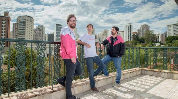 Gabriel Laet, Gustavo Vaz e Lucas Cardoso, cofundadores da startup EmCasa (Foto: Divulgação)