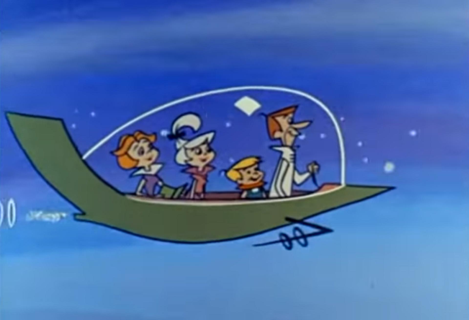 Jetsons: veículo da família futurista de Hanna-Barbera é paradigma da ideia de carro voador. Mas, a realidade deverá ser diferente(Foto: HANNA-BARBERA/REPRODUÇÃO/VÍDEO)